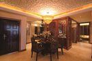 120平米三室一厅东南亚风格餐厅设计图