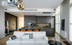 100平米三室两厅新古典风格客厅吧台图片