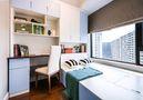80平米三室一厅现代简约风格书房橱柜欣赏图