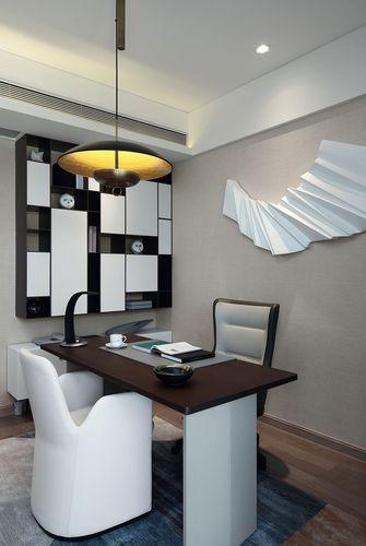 120平米三室一厅现代简约风格书房装修图片大全