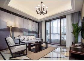 100平米三室两厅中式风格客厅装修效果图