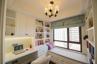 130平米三室两厅美式风格书房图