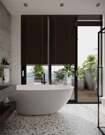140平米复式现代简约风格卫生间效果图