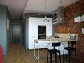 80平米一居室北欧风格厨房欣赏图
