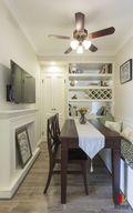 50平米一室一厅田园风格餐厅图片