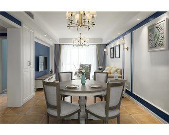 110平米三室一厅美式风格餐厅图片大全