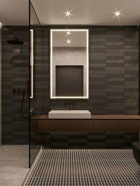 110平米三室兩廳現代簡約風格衛生間欣賞圖