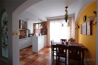 富裕型140平米四室一厅田园风格餐厅图片大全