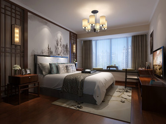 140平米四室两厅中式风格卧室装修图片大全