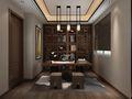 140平米三室两厅中式风格书房吊顶装修效果图
