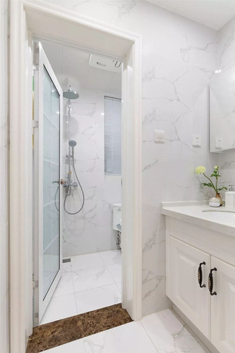 90平米三室一厅美式风格卫生间设计图