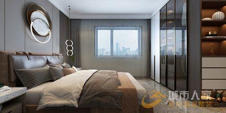 经济型140平米一室两厅现代简约风格卧室效果图