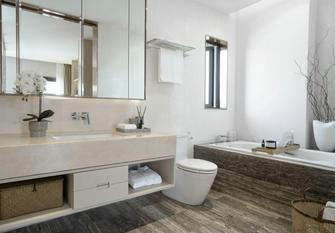80平米公寓中式风格卫生间图片