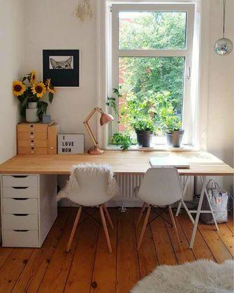 100平米公寓田园风格书房图片