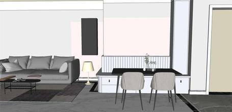 130平米三北欧风格餐厅图