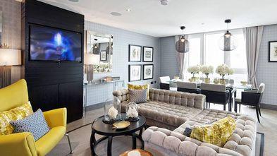 100平米三室一厅英伦风格客厅装修效果图