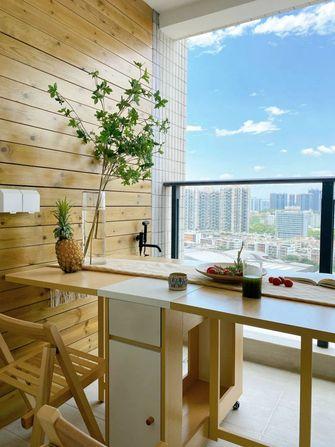 60平米三室一厅日式风格阳台装修案例