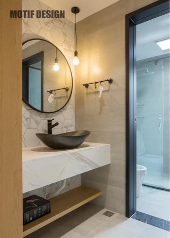 130平米四室两厅北欧风格卫生间设计图