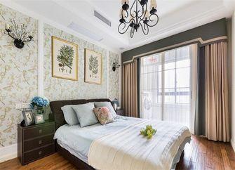 140平米三室一厅田园风格卧室欣赏图