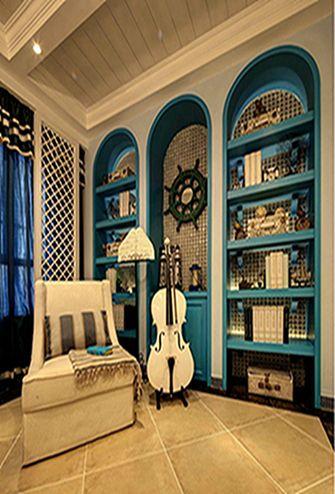 140平米三室两厅地中海风格书房图片大全