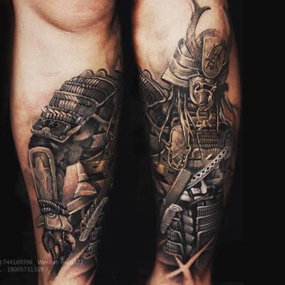 写实鬼武士纹身款式图