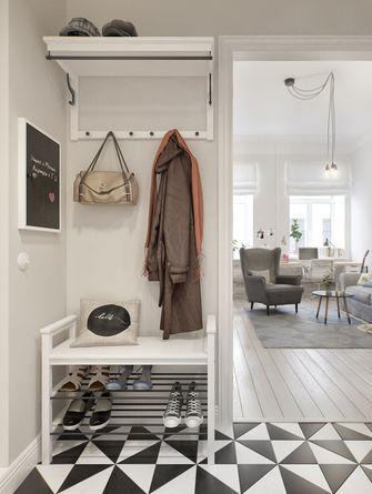 70平米一室两厅北欧风格玄关欣赏图