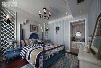 140平米四室两厅地中海风格卧室背景墙装修效果图