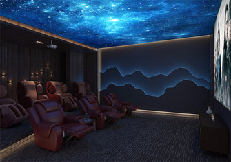 140平米三室两厅中式风格影音室图