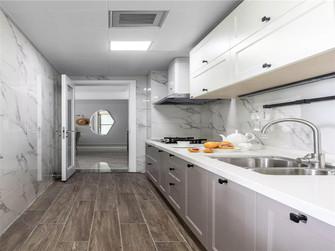 130平米四室一厅法式风格厨房欣赏图