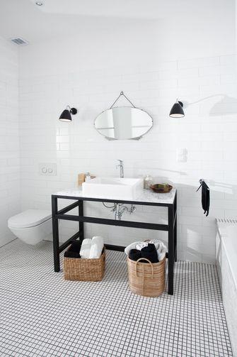80平米一室一厅田园风格卫生间装修案例