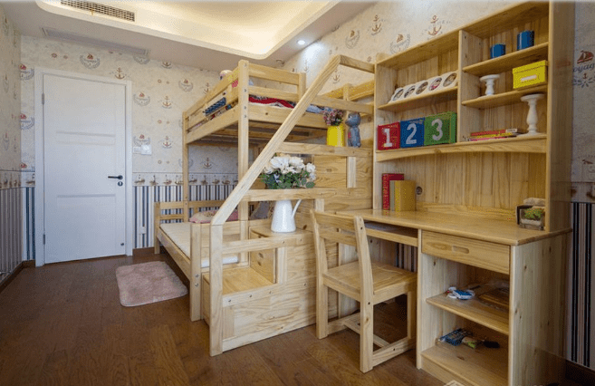 兄妹雙人兒童房裝修設計圖