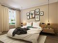 130平米北欧风格卧室背景墙效果图