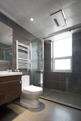 富裕型110平米三室三厅日式风格卫生间装修图片大全