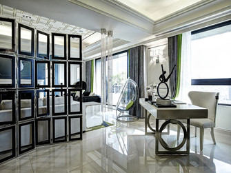 130平米三室两厅新古典风格玄关设计图