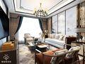 80平米一室一厅中式风格客厅图