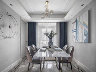 90平米三室一厅美式风格餐厅图片
