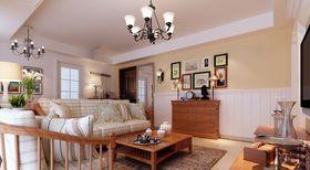 80平米田园风格客厅欣赏图