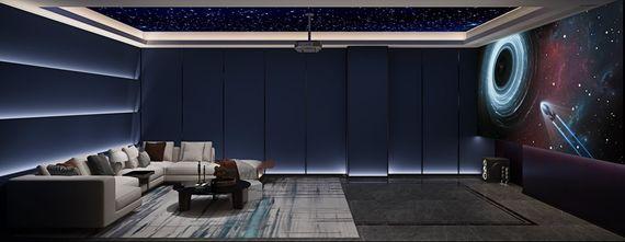 80平米公寓混搭风格影音室欣赏图