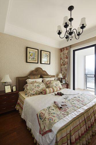 120平米三室两厅田园风格卧室图片大全