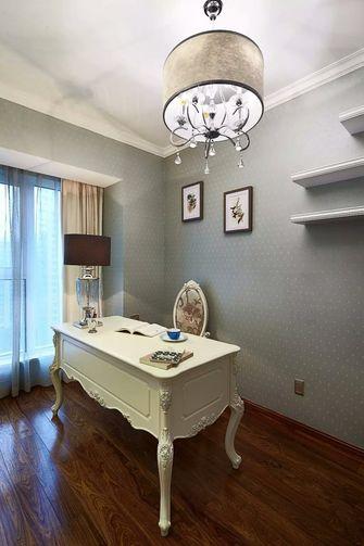 富裕型140平米四室四厅欧式风格书房图片大全