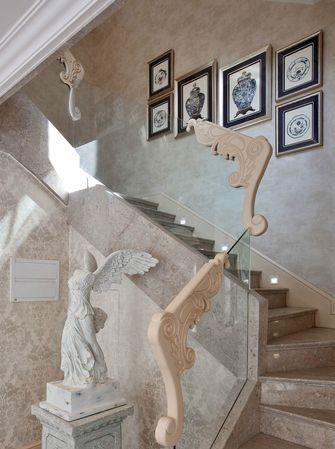 120平米三室两厅法式风格楼梯间设计图