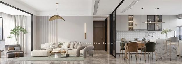 140平米复式法式风格客厅效果图