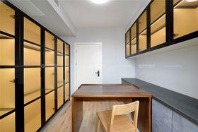 80平米三室两厅田园风格书房图片大全