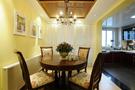 120平米三室一厅田园风格餐厅图片