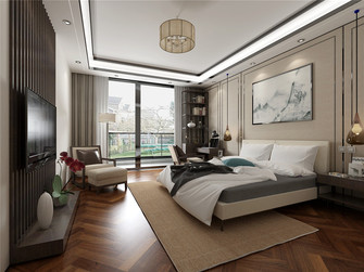 120平米三室两厅中式风格卧室欣赏图