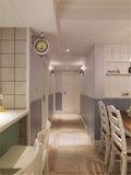 100平米三室一厅田园风格走廊家具装修效果图