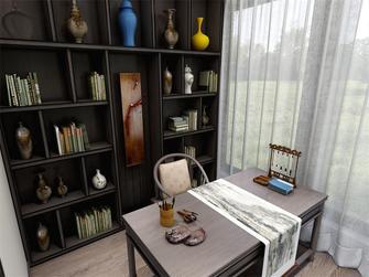 90平米四室一厅中式风格书房装修案例