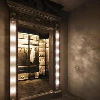 140平米四室两厅美式风格衣帽间欣赏图