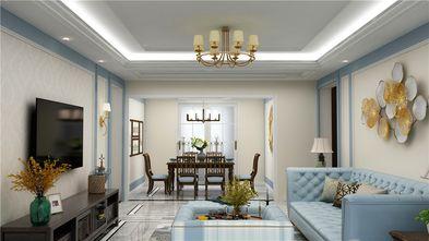 130平米三室两厅地中海风格餐厅图片
