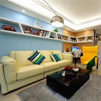 富裕型70平米田园风格客厅装修图片大全